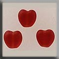 12082 - Small Channeled Heart Matte Ruby 6mm - 3 per pkg